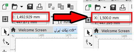 عکس آموزش چیدمان ال ای دی در کورل توسط نرم افزار ecut 6